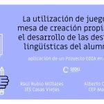 Jugando en el XX Congreso de Didáctica de la Lengua y la Literatura
